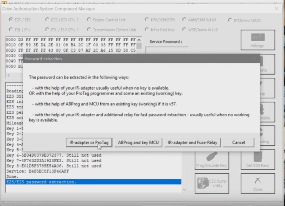 Benz-W221-All-Key-Lost-Programming-by-AVDI-Programmer-6