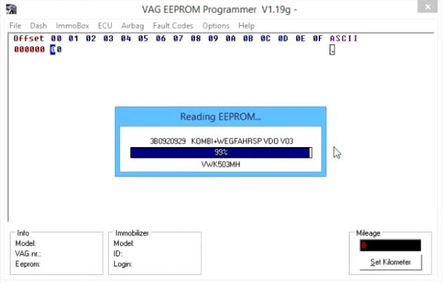 Change-Cluster-Mileage-for-Volkswagen-Passat-by-VAG-EEPROM-2