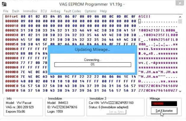 Change-Cluster-Mileage-for-Volkswagen-Passat-by-VAG-EEPROM-6