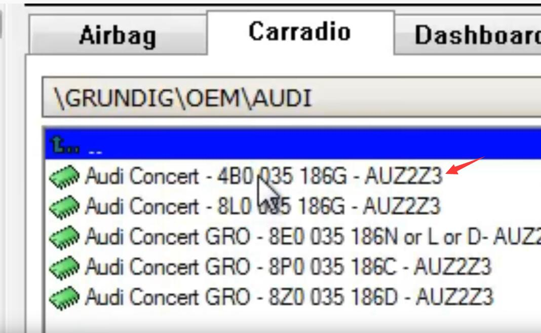 How-to-Decode-Audi-Concert-AUZ2Z3-GRUNDIG-Radio-24LC16-11