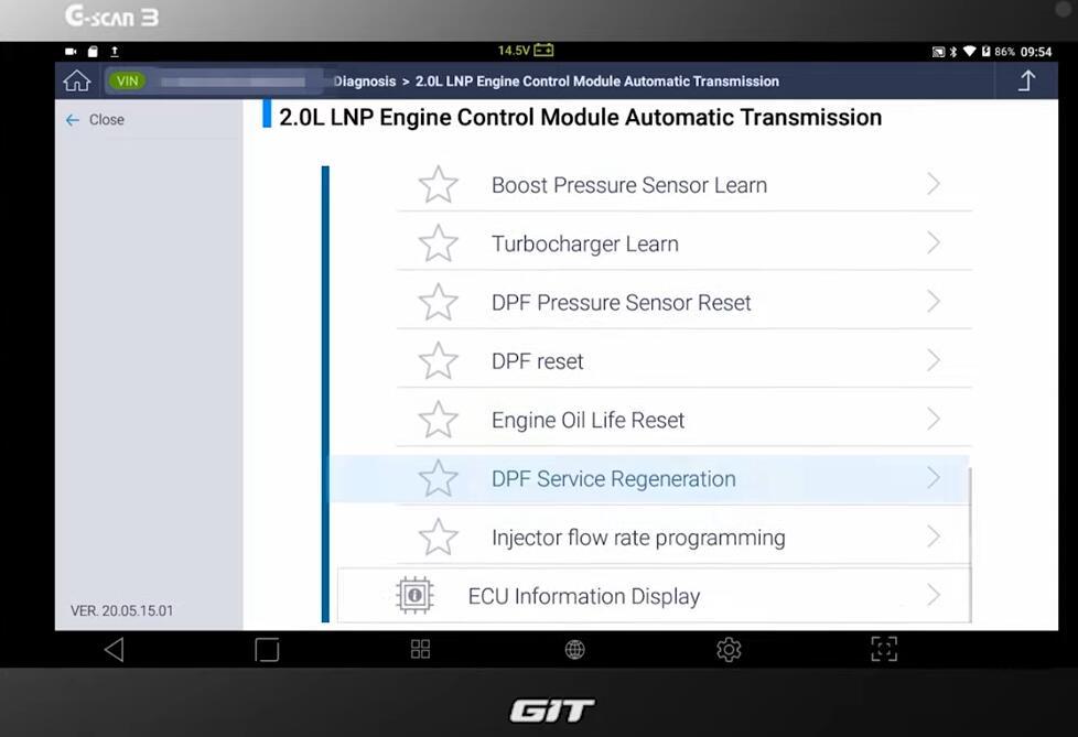 GM-Chevrolet-Orlando-DPF-Service-Regeneration-with-G-Scan3-8