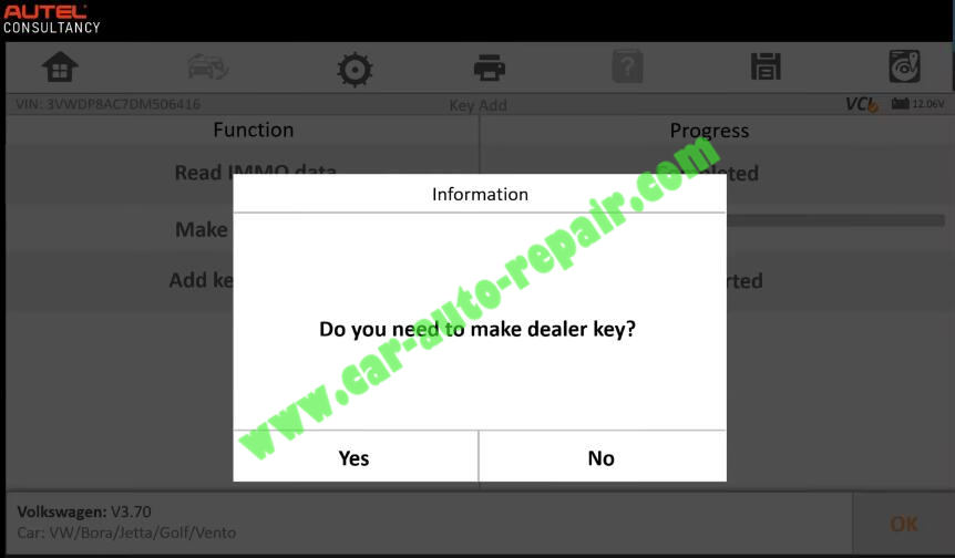 Autel-IM608-Add-New-Key-for-Volkswagen-Jetta-2013-10