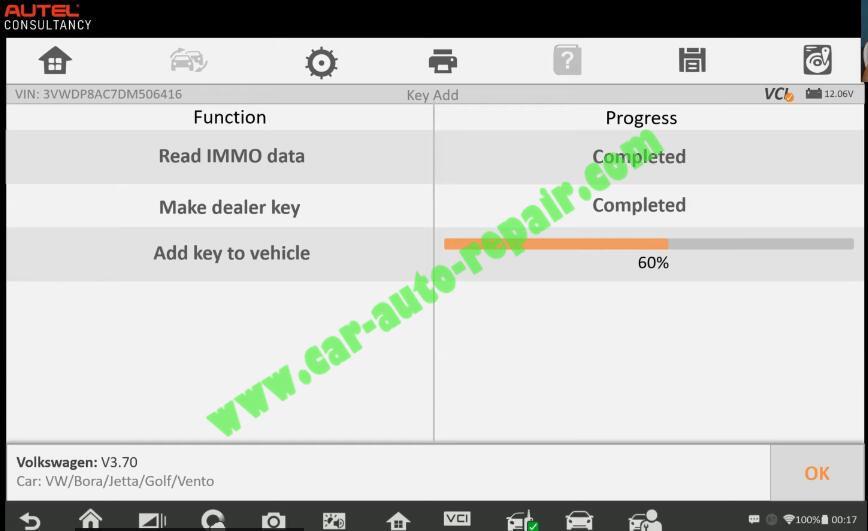 Autel-IM608-Add-New-Key-for-Volkswagen-Jetta-2013-14
