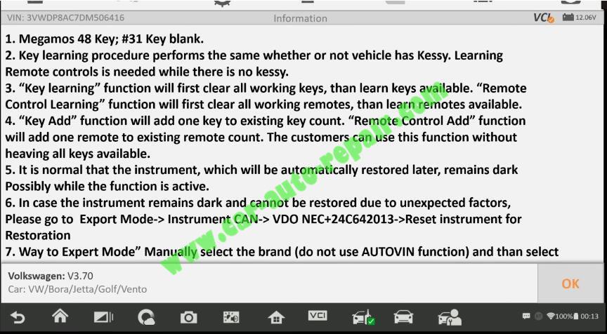 Autel-IM608-Add-New-Key-for-Volkswagen-Jetta-2013-4