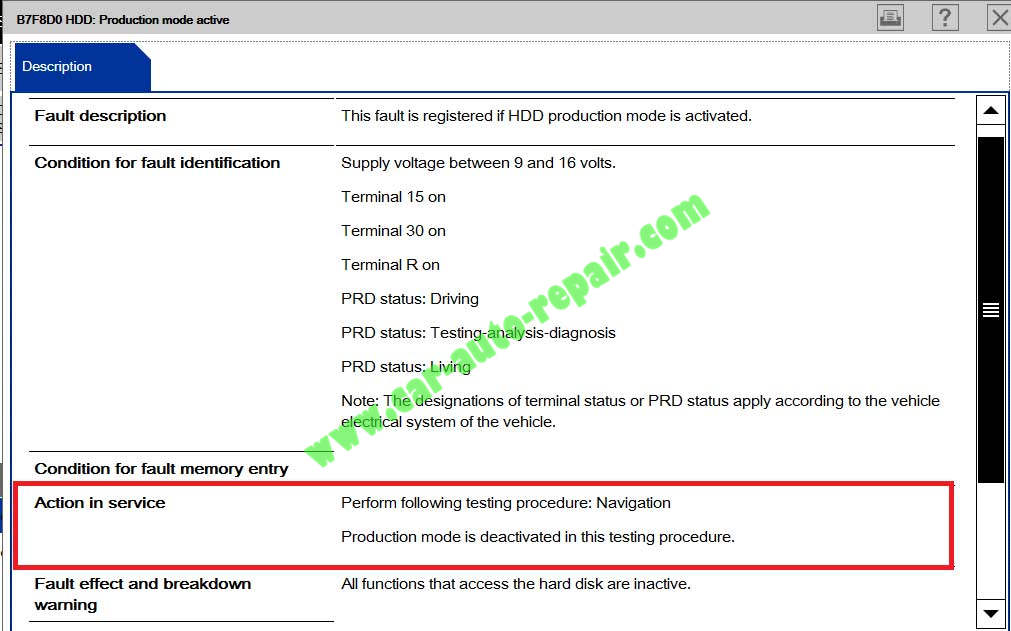 How-to-Solve-BMW-NBT-Unit-B7F8D0-HDD-Production-mode-active-1