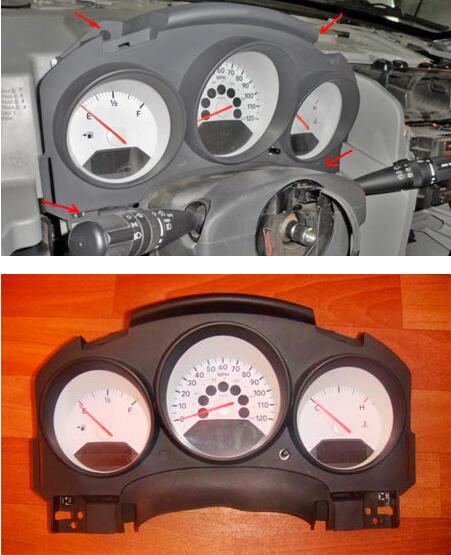 Remove-Disassemble-Instrument-Cluster-for-Dodge-Caliber-14