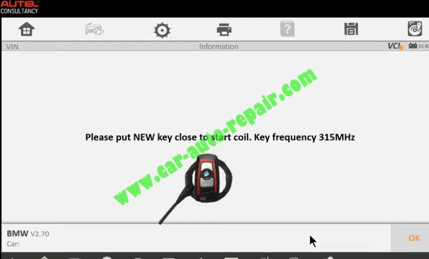 How-to-Use-Autel-IM608-to-Add-New-Key-for-BMW-320i-2013-29