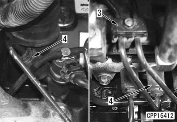 Komatsu-PC130-8-Excavator-Fuel-Injector-Assembly-Removal-Installation-3