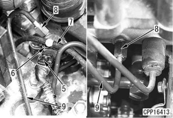 Komatsu-PC130-8-Excavator-Fuel-Injector-Assembly-Removal-Installation-4