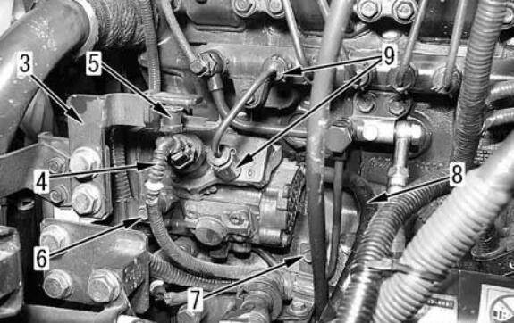 Komatsu-PC130-8-Excavator-Fuel-Supply-Pump-Removal-Installation-Guide-3