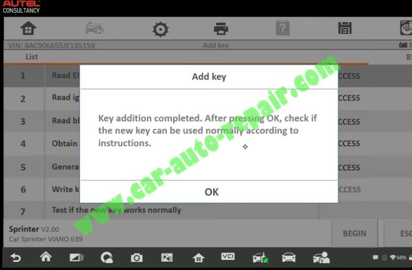 Mercedes-Benz-Sprinter-New-IR-Key-Adding-by-Autel-IM608-19