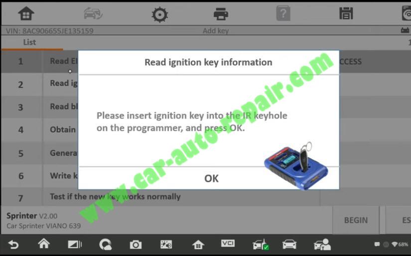 Mercedes-Benz-Sprinter-New-IR-Key-Adding-by-Autel-IM608-6