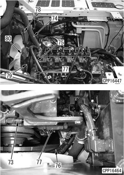 Komatsu-Excavator-PC130-8-Cylinder-Head-Removal-Installation-Guide-25