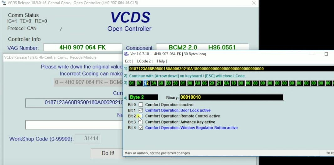 How-to-Active-Remote-Control-for-Windows-by-VCDS-on-2015-T3-Touareg-VW-5