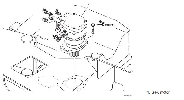 How-to-Remove-Install-Slew-System-for-Takeuchi-TB128-Excavator-1