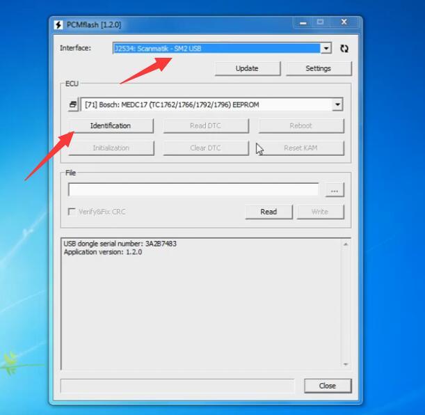 PCMflash-Read-Write-EEPROMFlash-Date-EDC17CP14-on-Bench-2