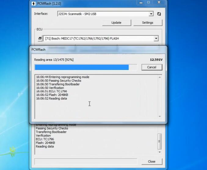 PCMflash-Read-Write-EEPROMFlash-Date-EDC17CP14-on-Bench-9