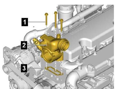 How-to-Remove-Install-Thermostat-for-Liebherr-Diesel-Engine-D834-5