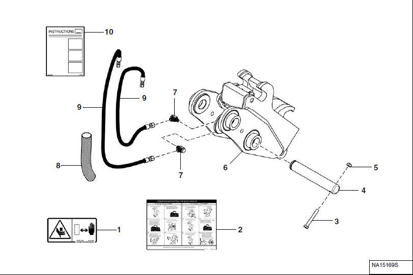 Bobcat-E85-Excavator-Hydraulic-Coupler-Kit-Remove-and-Installation-10