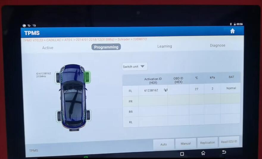 How-to-Program-TPMS-for-Cadillac-ATS-L-by-X431-TSGUN-10
