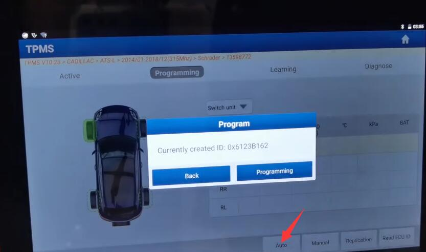 How-to-Program-TPMS-for-Cadillac-ATS-L-by-X431-TSGUN-6
