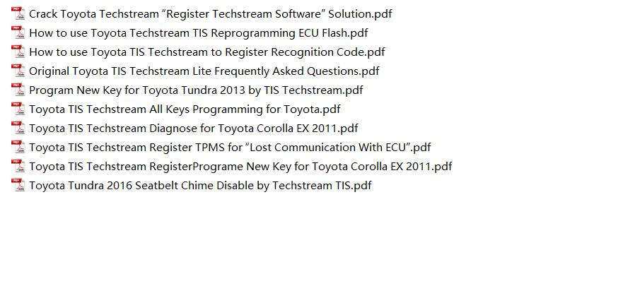 Toyota TIS Techstream Video+PDF Tutorial-3