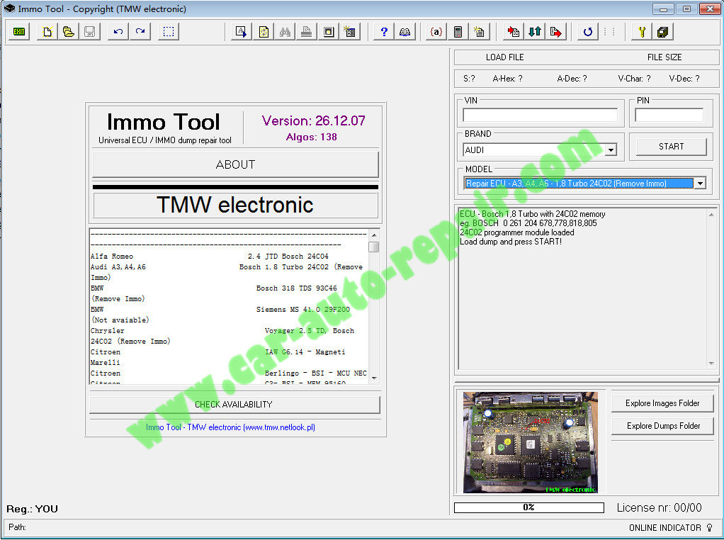 Immo Tool 26 12 07 Software Download,Installation Activation Guide